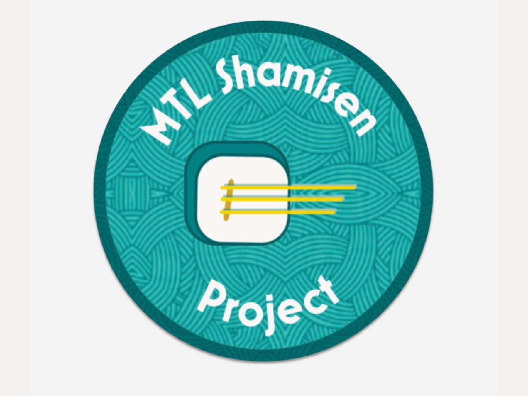 Sous-verres de MTL Shamisen Project